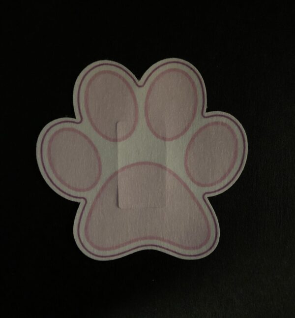 Panda Paw Designed precut adhesive patch to secure all diabetic devices