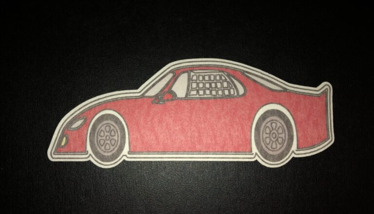 Race Car Designed precut adhesive patch to secure all diabetic devices