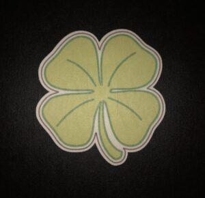 4 Leaf Clover Designed precut adhesive patch to secure all diabetic devices