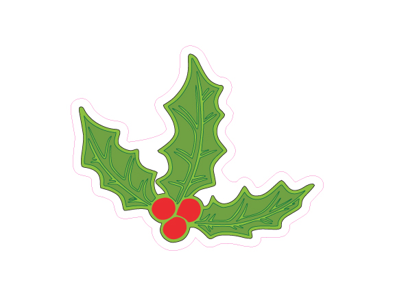 Christmas Mistletoe Designed precut adhesive patch to secure all diabetic devices