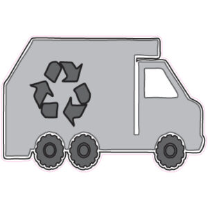 Recycle Truck Designed precut adhesive patch to secure all diabetic devices