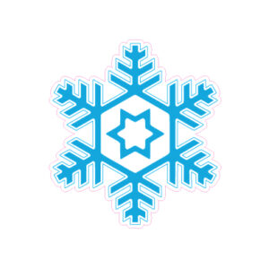 Christmas Snowflake Designed precut adhesive patch to secure all diabetic devices