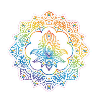 Henna Lotus Mandala Designed precut adhesive patch to secure all diabetic devices