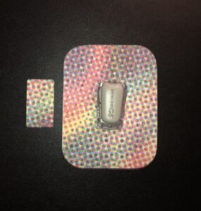 Color Dots Designed precut adhesive patch to secure all diabetic devices
