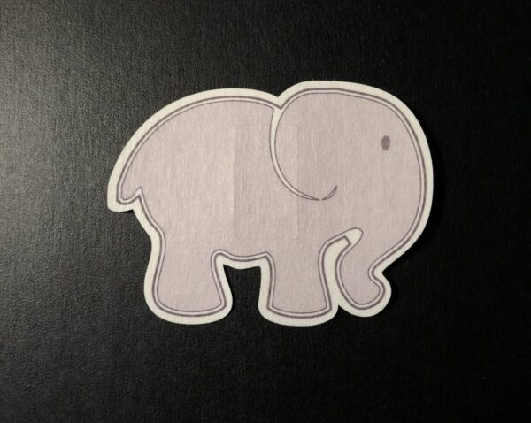 Elephant Designed precut adhesive patch to secure all diabetic devices
