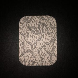 Lace Designed precut adhesive patch to secure all diabetic devices