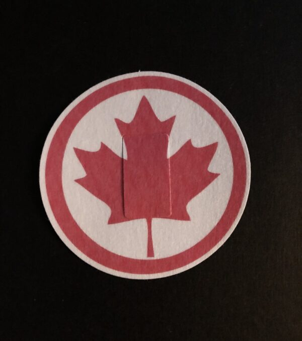 Canadian Leaf Designed precut adhesive patch to secure all diabetic devices