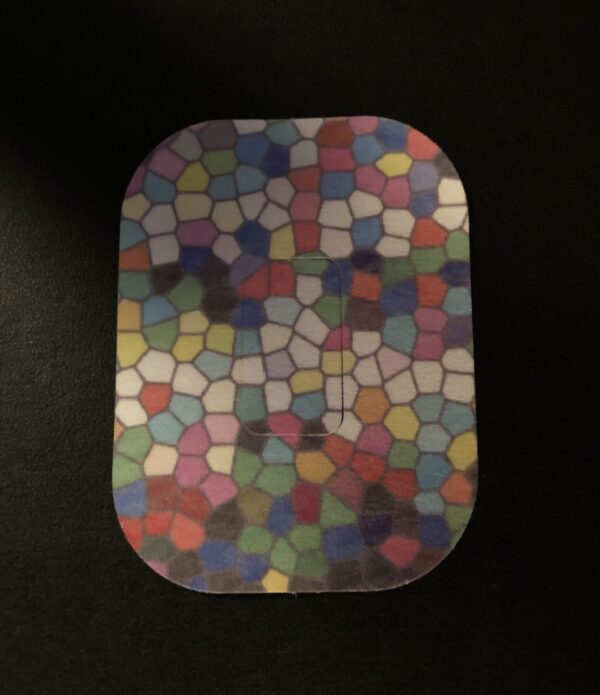 Stained Glass Designed precut adhesive patch to secure all diabetic devices