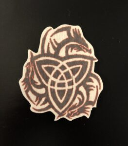 Celtic Dragon Designed precut adhesive patch to secure all diabetic devices