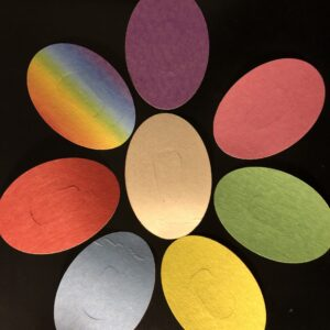 Colorful Athletic Oval Designed precut adhesive patch to secure all diabetic devices