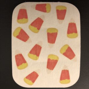 Halloween Candy Corn Pattern Designed precut adhesive patch to secure all diabetic devices