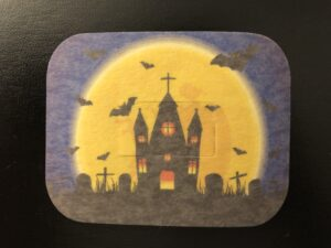 Halloween Graveyard Designed precut adhesive patch to secure all diabetic devices