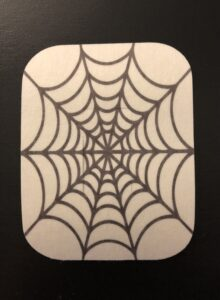 Halloween Spider Web Designed precut adhesive patch to secure all diabetic devices