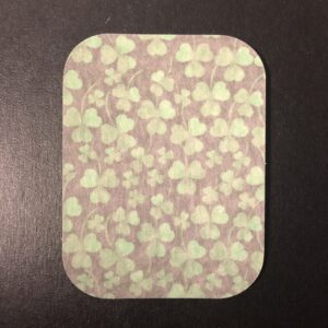 Clover Pattern Designed precut adhesive patch to secure all diabetic devices