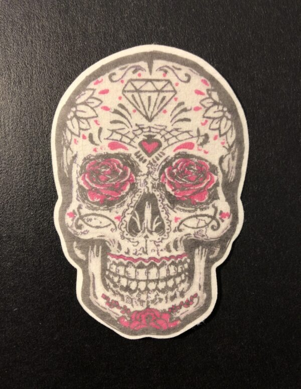 Sugar Skull Designed precut adhesive patch to secure all diabetic devices