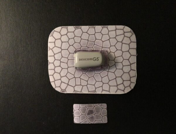 Scale Designed precut adhesive patch to secure all diabetic devices