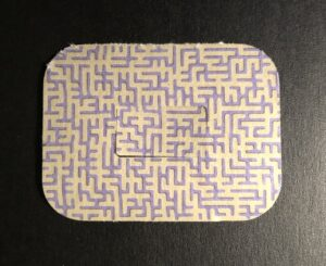 Maze Designed precut adhesive patch to secure all diabetic devices