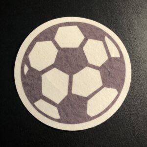 Soccer Ball Designed precut adhesive patch to secure all diabetic devices
