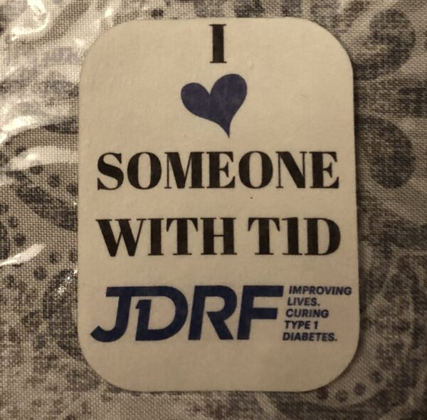 I heart someone with T1D JDRF Designed precut adhesive patch to secure all diabetic devices