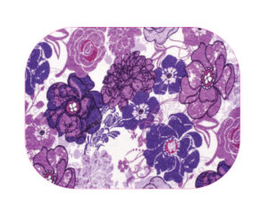 Purple Flowers Designed precut adhesive patch to secure all diabetic devices