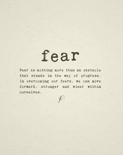 Balancing Fear
