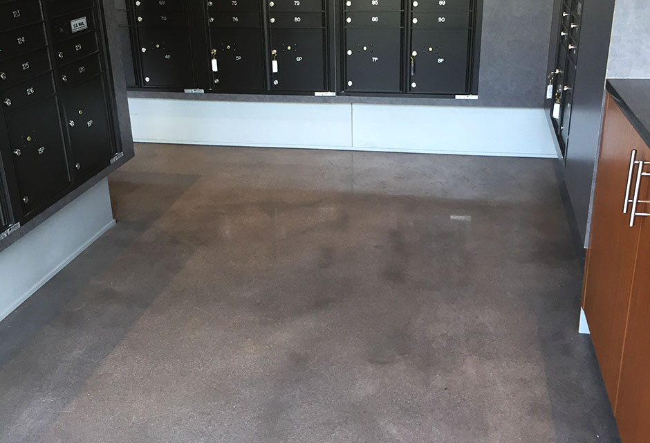 400 Grit Polish of Decatur Point Apartments by Custom Concrete Prep and Polish