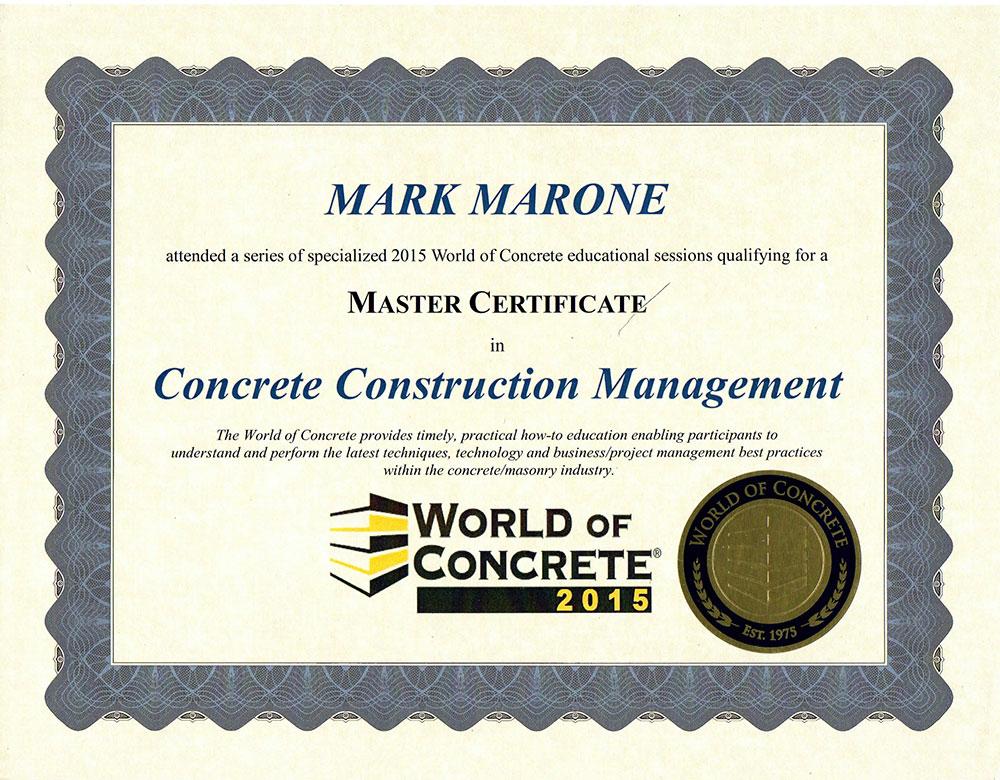 Construction Management Certification