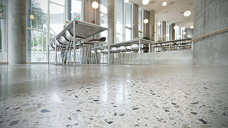 High aggregate level exposure custom concrete flooring