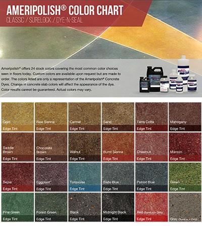 AmeriPolish Color Chart Custom Concrete Prep and Polish