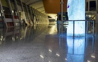 High polish concrete flooring