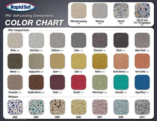 Rapid Set TRU® PC Color Chart