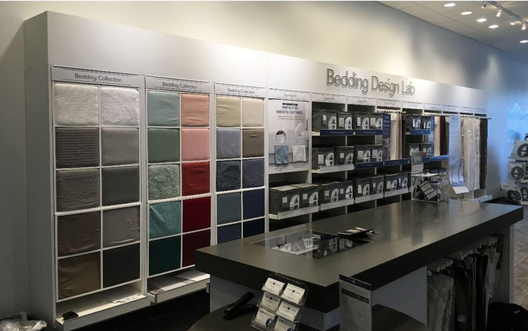 LI Group Construction of Sleep Number Refresh Store Bedding Display