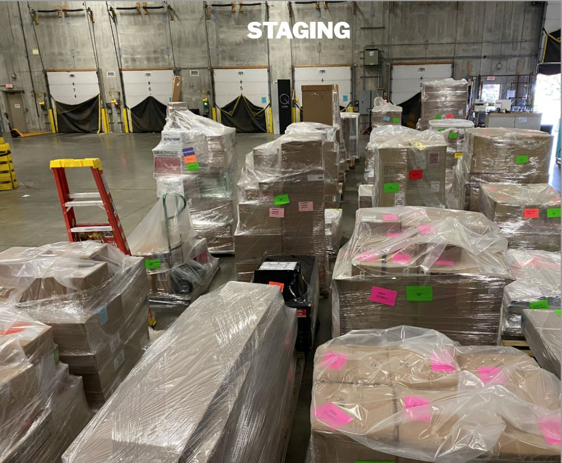 LI Group Logistics Division Project - Life Time Staging