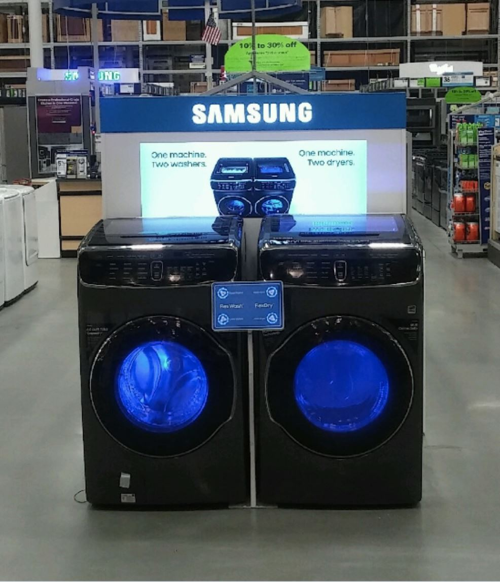 LI Group Installation Project for Samsung Washer-Dryer Display