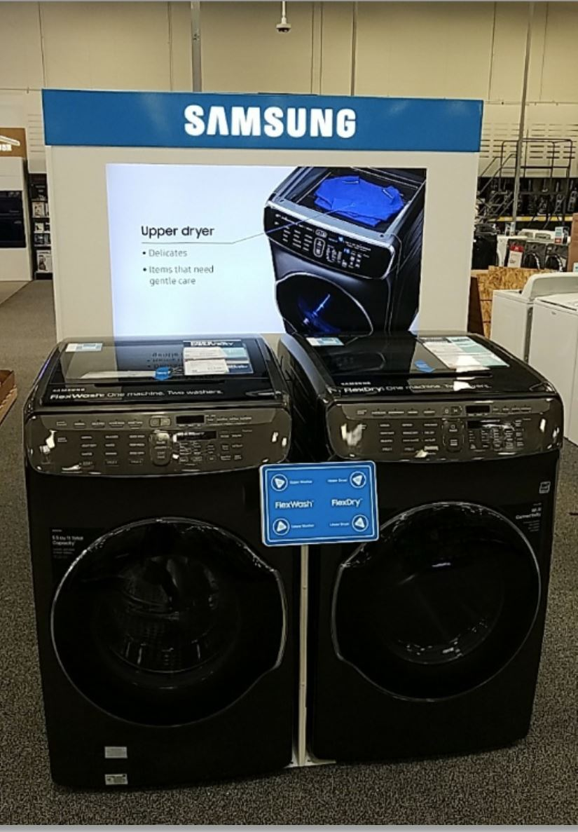 Samsung Washer-Dryer DisplayLI Group Installation Project for Samsung Washer-Dryer Display