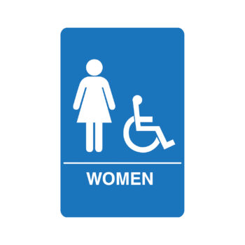 IS1004 – Women's Accessible ADA Restroom Sign