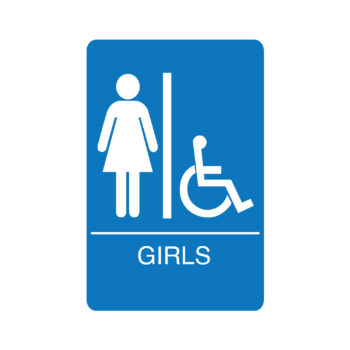 IS1008 – Girls Accessible ADA Restroom Sign