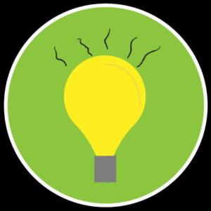 A light bulb radiating