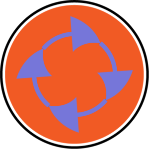 A circle of arrows indicating a cycle