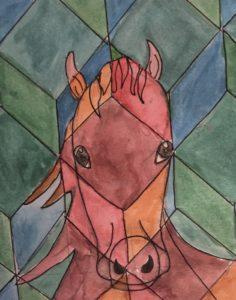 Cubist Horse