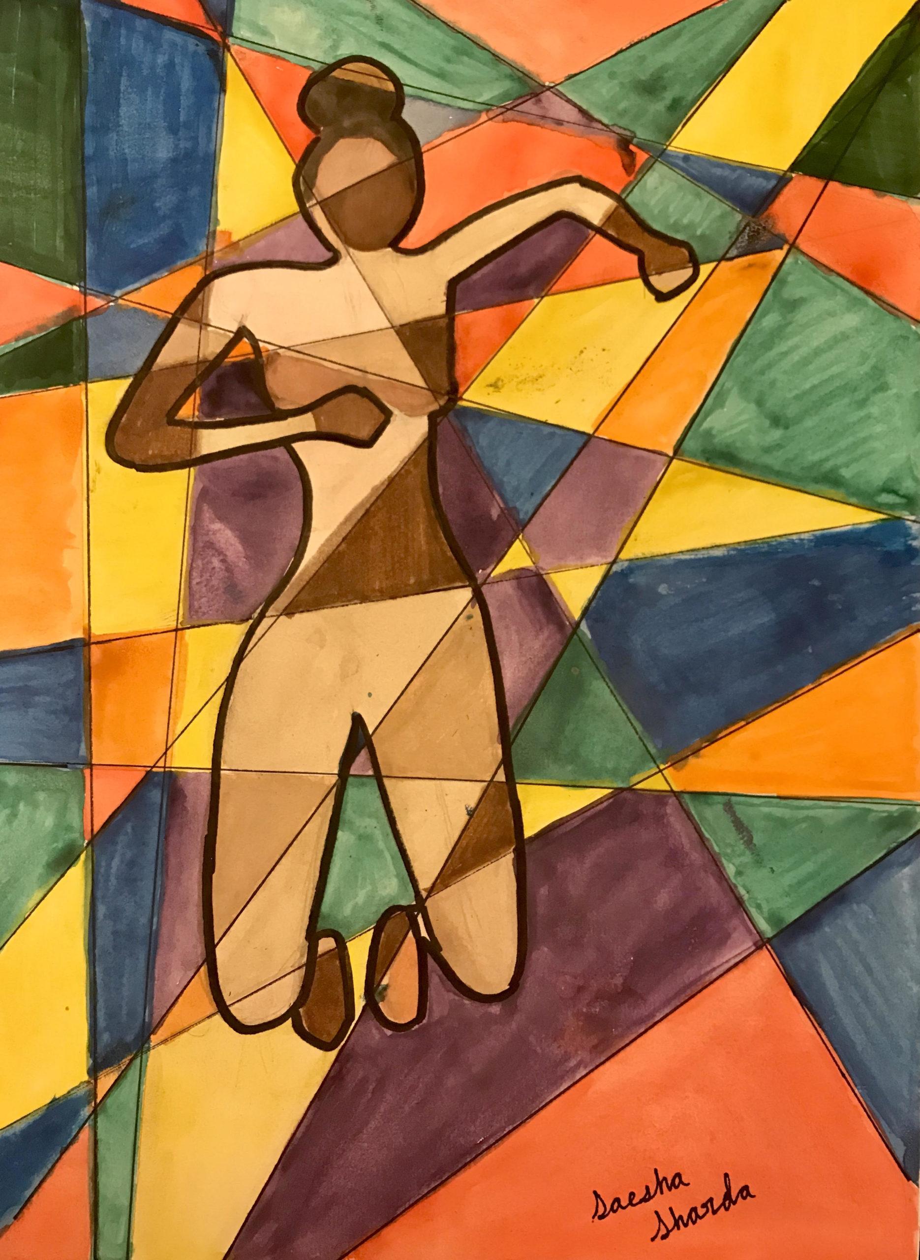 Cubist Art- water color