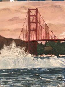 Golden gate bridge painting