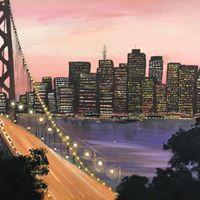 Bay bridge on canvas