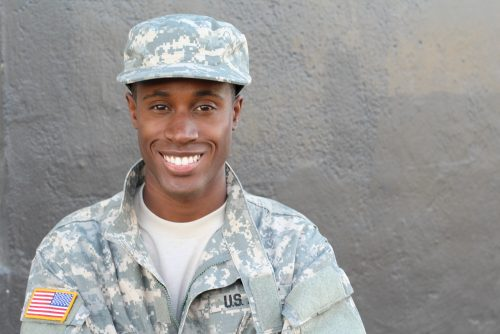 Young Army Member in Uniform