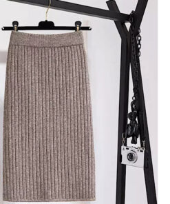knit Ribbed Skirt