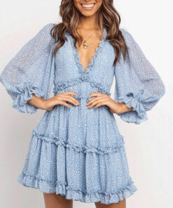 Brook Blue Chiffon Dress