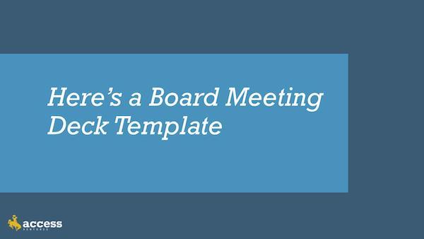 AVP Best Practices: Board Meetings