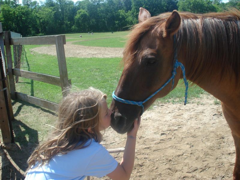 BR Girl kissing her horse