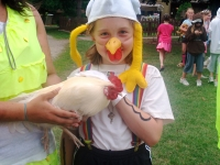 BR Girl with chicken