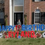Personalized Happy Birthday Yard Signs   Rental Birthday Yard Signs